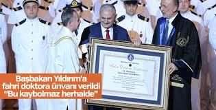 Başbakan Yıldırım'dan diploma esprisi