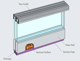 sliding glass cabinet doors door hardware diagram showing components of the zenith gear runners