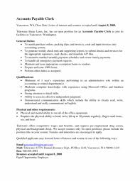 Accounts Payable Resume Classy Template Cover Letter Examples Of Accounts Payable Resumes Email 48