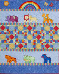 Animal Quilt Patterns Gorgeous Kids Quilts Little Noah Ark Animal Applique Quilt Pattern