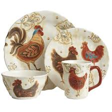 Rooster Kitchen Decor Country Kitchen Decor In Reds And Creams Pc Red Ceramic Rooster