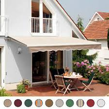 details about patio awning canopy retractable deck door outdoor sun shade shelter