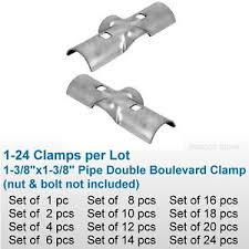1 38 Chain Link Fence Line Rail Double Boulevard Clamp X Bracket