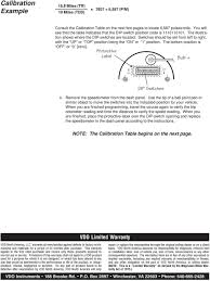 10 Pulse Speedometer Calibration Chart Vdo Electronic Speedometer Hall Effect Sender Installation