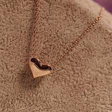small heart tiny chain necklace for women