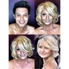 guy uses makeup to transform himself into female hollywood cameron diaz as natalie charlie s angels