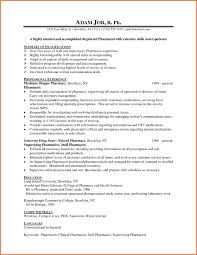 Sample Pharmacist Resume Pharmacist Entry Resume Example Sample