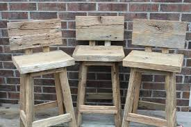 full size of rustic reclaimed wood bar stools with low back design chair plans of photo