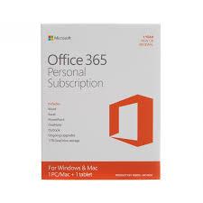 Offi 365 Microsoft Office 365 Personal 32 64 Bit 1 Year