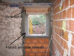 following some brick work and render we have a opening ready for the double glazed aluminium window to be fitted