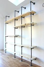 steel pipe shelves shelf diy scaffolding boards and dark plumbing pipe shelves new best galvanized steel