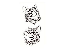 Dočasné Tetování Kočka Xi