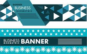 Business Banner Design Business Banner Design Modern Geometric Style Free Vector In Adobe