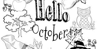 Small Picture Free Hello October Coloring Page Download and Print
