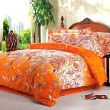 bright orange white novelty unique western paisley bedding sets and covers pink s