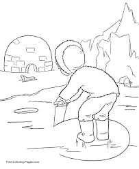 Small Picture Coloring Sheets Ice Fishing