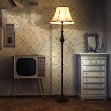 <b>Nordic</b> Retro <b>Style</b> Luxury <b>Resin</b> Floor Lamp Antique <b>LED</b> Living ...
