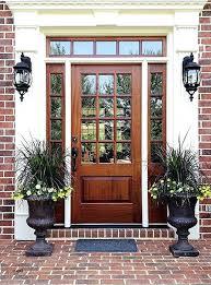 wooden front door with glass solid oak front door with glass