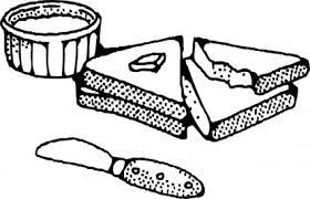 スライスしたパン バター自動 クリップ アート クリップアート