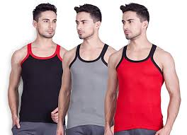 Lux Cozi Mens Cotton Vest Pack Of 3 Colors Print May Vary