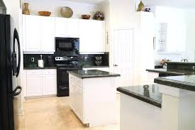 kitchens with white cabinets and black appliances. White Kitchen Cabinets With Black Appliances Kitchens And A