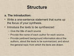 how to write a synthesis essay 6 structurea the introduction bull write