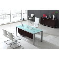 modern glass office desk full. full image for modern black glass office desk glacier home stylish white s
