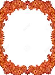 antique frame drawing. Illustration - Of Antique Frame, Hand Drawing By Sketch Marker  Color. The Baroque Wooden Frame Isolated On White Background.