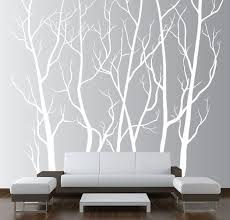 large wall art decor vinyl tree forest decal sticker choose size and color  on vinyl wall art tree decals with realistic winter tree wall decal headboard wall decal home decor