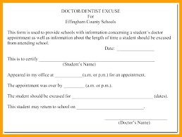 Free Printable Doctors Note For Work Dentist Excuse Dental
