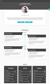 Html Resume Template 81 Images Examples Of Resumes Free Samples