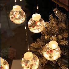 Dây Đèn Led Trang Trí Giáng Sinh / Năm Mới Hình Quả Cầu Tuyết Nhiều Màu -  Khác