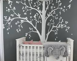 Large tree decal Huge White Tree wall decal Stickers Corner Wall Decals Wall  Art Tattoo Wall
