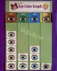 Preschool Charts And Graphs Eye Color Graph For The Classroom Sing Laugh Learn