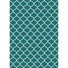 ruggable washable moroccan trellis teal 5 ft x 7 ft area rug