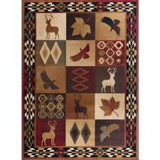 tayse rugs nature multi 8 ft x 10 ft lodge area rug