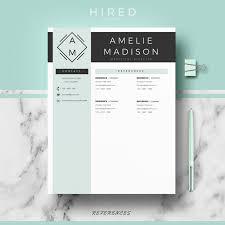 Resume Template Modern Professional Professional Modern Resume Template For MS Word Amelie Hired 4