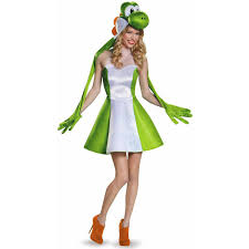 Super Mario Bros Bedroom Decor Super Mario Bros Yoshi Female Womens Adult Halloween Costume