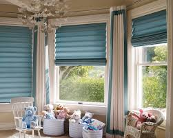 sweet roman blinds on sliding glass doors feature blue fabric vertical sliding curtain and white stained
