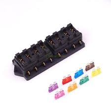 volt fuse block 12v 24v universal 8 way circuit standard blade fuse box holder block car truck
