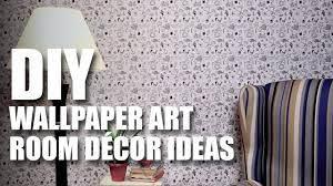 How to make a DIY Wallpaper Art - YouTube