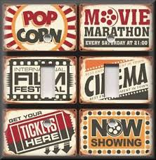Small Picture Home Theater Decor Light Switch Plate Cover Vintage Cinema