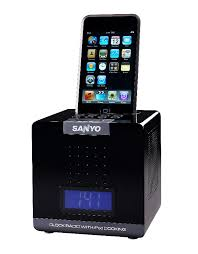 SANYO CUBE (IPOD DOCKING) ALARM CLOCK (HIDDEN NANNY CAMERA W/BUILT-IN  MOTION-ACTIVATED DVR) (RECORDS IN ...