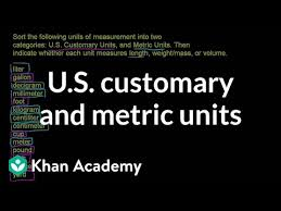 Apothecary Weights And Measures Chart U S Customary And Metric Units Video Khan Academy