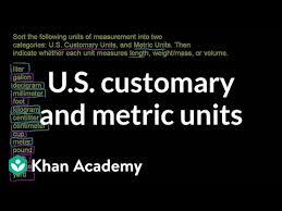 Metric To Us Customary Conversion Chart U S Customary And Metric Units Video Khan Academy