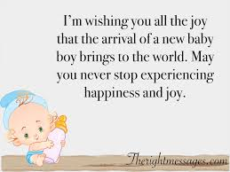 Congratulate On New Baby 45 Congratulation Wishes Messages For New Born Baby Boy The