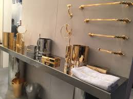 bathroom accessories ideas. Gold And Shine Bathroom Accessories Set Ideas O