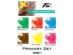 Fw Inks Colour Chart Sculpture Supply Canada Product Detail