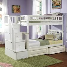 atlantic furniture columbia white twin over twin bunk bed