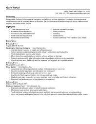 Resume Navigation Wonderful 8614 Delivery Driver Resume Sample My Perfect Resume's Pinterest
